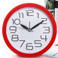 糖果色立体字圆形电子钟卡通闹钟学生时尚创意台钟日用百货礼品