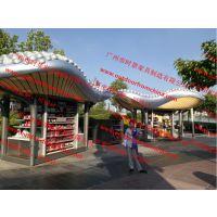 河源游乐园售货亭 惠州商业街售卖亭 公园餐饮售货车 零售花车