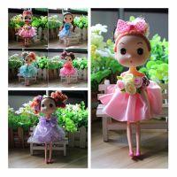 创意可爱迷糊娃娃女孩生活女生毛绒玩具生日礼物挂件婚庆用品批发
