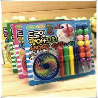 儿童六一礼物旋转陀螺玩具塑料葫芦笔蜡笔笑脸铅笔文具绘画套装