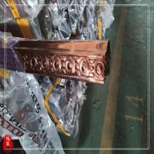 厂家生产精致不锈钢观梯式楼梯立柱 玫瑰金不锈钢栏杆立柱