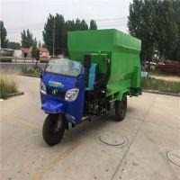 撒料车可在牛棚内行驶 饲料运输喂养投料车 养殖牛场饲喂车