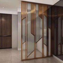 专业加工定制不锈钢屏风 不锈钢玻璃隔断办公室专用
