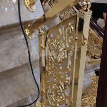 江西大同家居装修铝艺雕花设计铝艺楼梯扶手