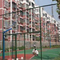体育场围栏 体育场隔离栅 草绿色包塑勾花网