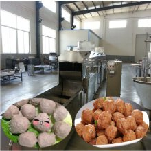 包心丸子生产设备_大型鱼丸生产线_全自动肉丸子机流水线