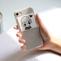 新品 冇心苹果7/8/X手机保护套iPhone手机壳 全包 透明 软壳防摔