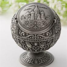 复古金属工艺品,球形装饰带盖饰品,客厅烟灰缸定制