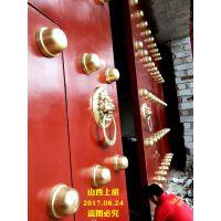 古建铜钉大木门,中式古建大门专业定制-山西上胡木门厂