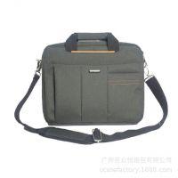 跨境定制 男士公文包休闲14寸笔记本电脑包单肩斜挎包手提旅行包