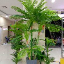 太原批发仿真树,仿真盆栽,美陈绿植,龟背、芭蕉、椰子树、散尾葵0.6米至3米各种规格可选