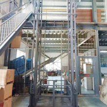 延安定做厂房升降货梯厂家 导轨链条式升降机 380v二层垂直升降货梯 航天品牌