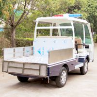 供应安步优品ABLQF090蓝白色的两排座带货斗电动巡逻车