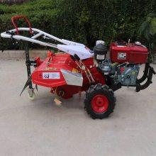苗圃花卉小型松土机 农用自走式松土旋耕机 柴油大马力松土机使用视频