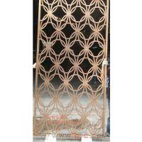 铝雕花屏风 铝铜镂空隔断 铜雕花格屏风
