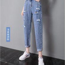 杭州东大门商品交易中心的牛仔裤出口国外的是不是很便宜的尾货货源十元牛仔裤长裤批发