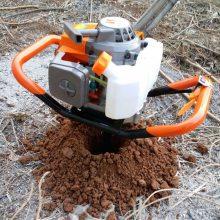 大棚栽柱子打眼机价格 HC-WKJ新款挖坑机 大马力打洞机厂家