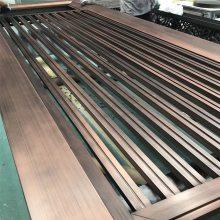 做工精细中式工艺仿古铜色不锈钢屏风,不锈钢满焊无焊点古铜屏风隔断