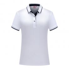 贵州POLO衫定做,间色翻领短袖广告衫,ZHIT-1878A001白色精梳棉陶瓷桑蚕丝32支细珠地布