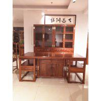 中山名琢红木家具办公室书柜书架款式