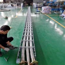 广纳钢厂拖链 太原钢厂钢制拖链 大型钢铝拖链