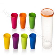 创意旅游便携式彩虹杯7型户外野餐塑料杯套模具果汁杯方便杯模具 注塑模具 模具厂
