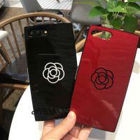 经典iPhoneX山茶花粉饼盒潮***苹果7 LLUS手机壳iPhone6/6S挂绳