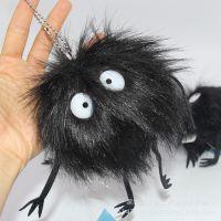 宫崎骏龙猫毛绒玩具黑炭公仔娃娃千与千寻煤炭精灵煤球白叽喳挂件