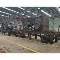 日产三千吨移动碎石机/克石机照样可以在路上跑