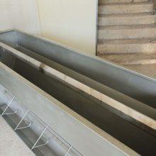中拓厂家不锈钢料槽 养猪料槽设备双面料槽 大猪补料槽猪用食槽