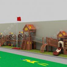 厂家直销大型儿童滑梯 户外幼儿园木质组合滑梯 爬网攀爬架体能拓展训练定制