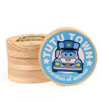 嘟嘟镇儿童 婴儿胎毛乳牙盒木制纪念品牙齿收藏盒男女孩生日礼品
