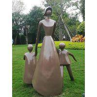 玻璃钢母子雕塑广场树脂母子亲情仿真圆雕小孩计生文化雕塑