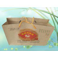 现货手撕鸭包装手提纸袋 烤鸭烤鸡牛皮纸袋 湄公烤鱼手提纸袋