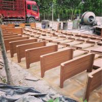 瑞昌花箱厂家直销 120套水泥仿木花箱价格