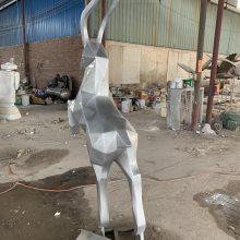 阳春玻璃钢切面雕塑 抽象羊雕塑 玻璃钢制品哪里有