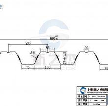 YXB75-230-690开口压型钢板强势卖点吸引广西客户不远千里来订货