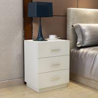 装饰品简易床头柜北欧床柜收纳柜深棕色装饰组装柜子简欧茶几边柜
