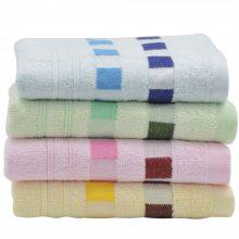 万尔欣家用洗脸竹纤维条纹毛巾舒适亲肤呵护皮肤环保吸水