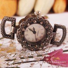 镶钻复古欧式宫廷花纹手表表头 女士手腕手链手表表头厂家货源