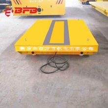 载重16吨磨碎机械设备配套轨道电动平车_KPT电缆线供电型电动轨道平车