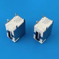 TYPE-C侧插10.0mm母座/16PIN/全插板式DIP/四脚插板/全包围式