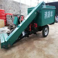 养殖场机械化清洁粪污用三轮清粪车 小型车身窄过道铲粪车 中泰机械