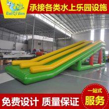 厂家定制 充气滑梯 泳池派对游乐气模 水上闭气滑梯
