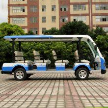 安步优品ABLQY113B白色豪华11座电动旅游观光车景区电瓶观光车度假村摆渡电瓶车图片及报价