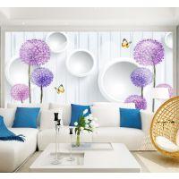3D无纺布墙纸大型花卉壁画现代简约5D立体沙发电视背景墙墙纸批发
