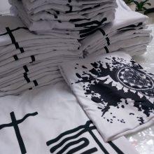 有特色有意义的初中生毕业班服白色纯棉短袖来图定制