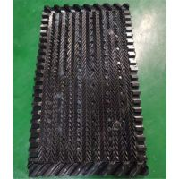 冷却塔塑料淋水装置 黑色S波形沟槽填料 尺寸1000*500品牌华庆