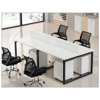江西职员办公桌2/4/6人电脑桌简约现代屏风卡座办公桌椅组合办公家具厂家直销