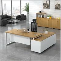 广东办公家具广州老板办公桌简约现代大班台经理主管总裁办公桌椅组合